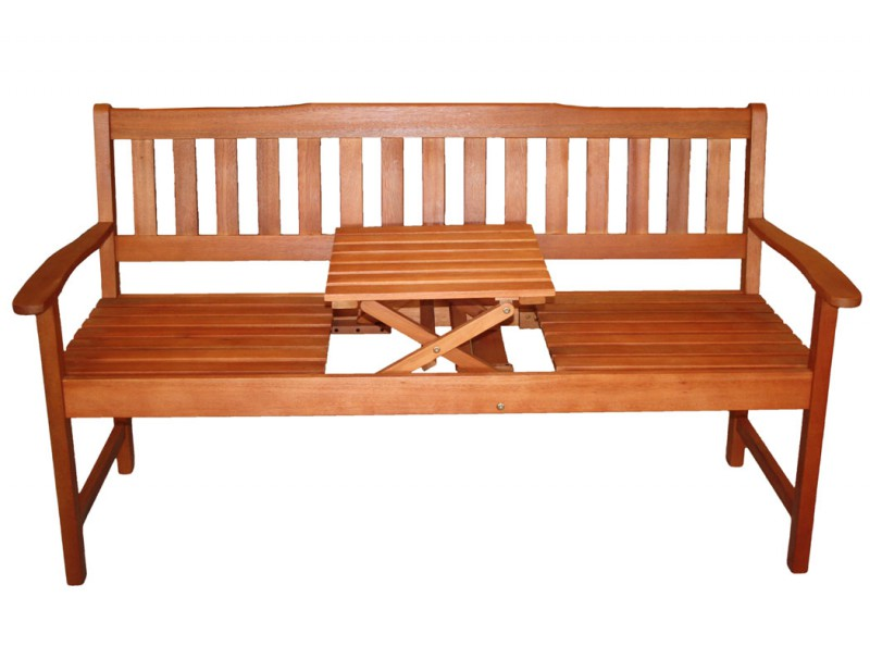 3 sitzer fsc eukalyptus gartenbank mit integr tisch 101909 b nke garten kmh shop. Black Bedroom Furniture Sets. Home Design Ideas