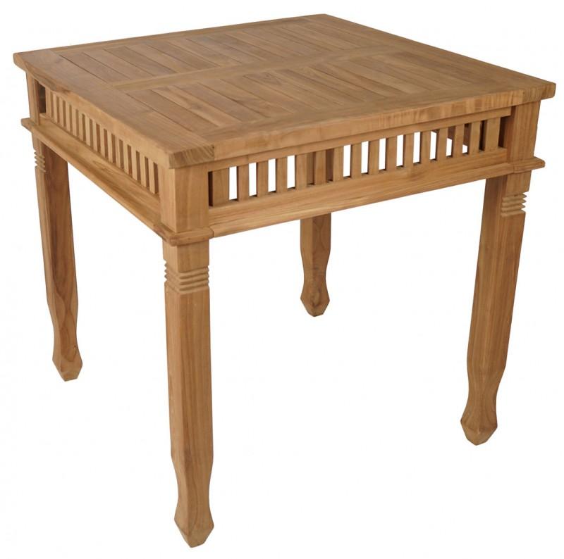 Ordinaire Teak Tisch *Colonial* 80x80 Cm (#102056)