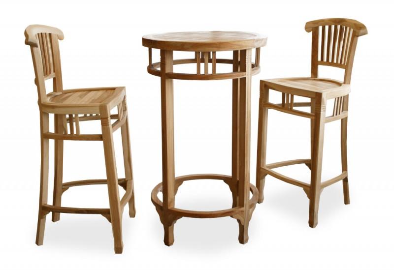 teak barhocker colonial 102058 st hle sessel garten kmh shop. Black Bedroom Furniture Sets. Home Design Ideas