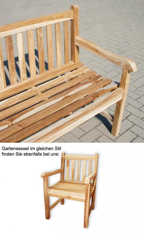 teak 3 sitzer gartenbank classic 102087 b nke garten kmh shop. Black Bedroom Furniture Sets. Home Design Ideas