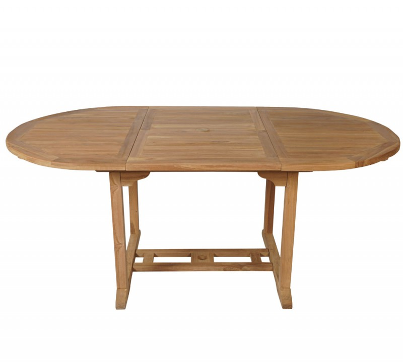 Ovaler Gartentisch.Teak Gartentisch 120 180 100cm Oval 102111