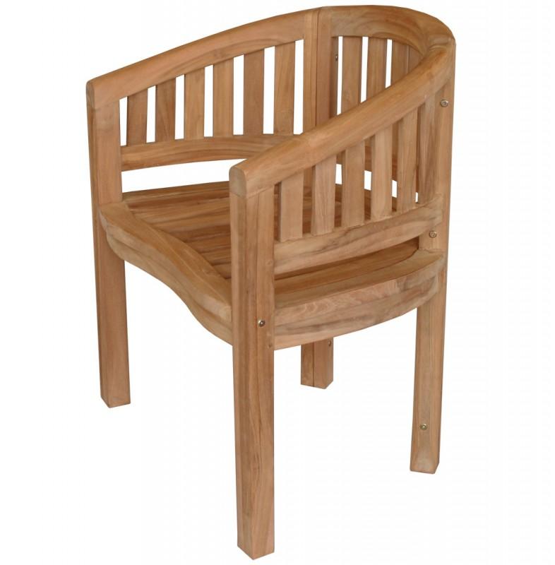 teak sessel banana 102138 st hle sessel garten kmh shop. Black Bedroom Furniture Sets. Home Design Ideas