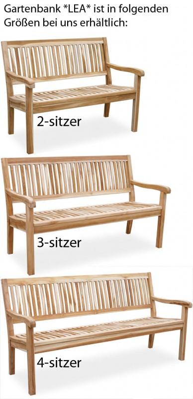 teak 3 sitzer gartenbank lea 102147 b nke garten kmh shop. Black Bedroom Furniture Sets. Home Design Ideas