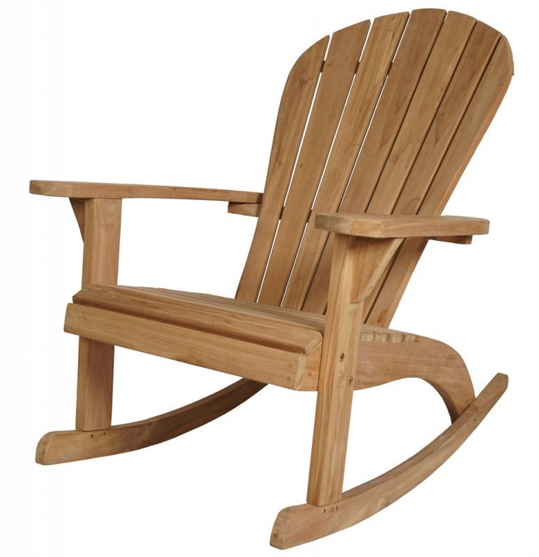 Teak Schaukelstuhl Adirondack 102149 Stuhle Sessel Garten