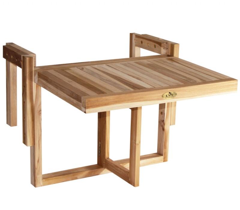 Balkontisch klappbar  TEAK Balkontisch klappbar (#102167) | Tische | Garten | kmh-shop