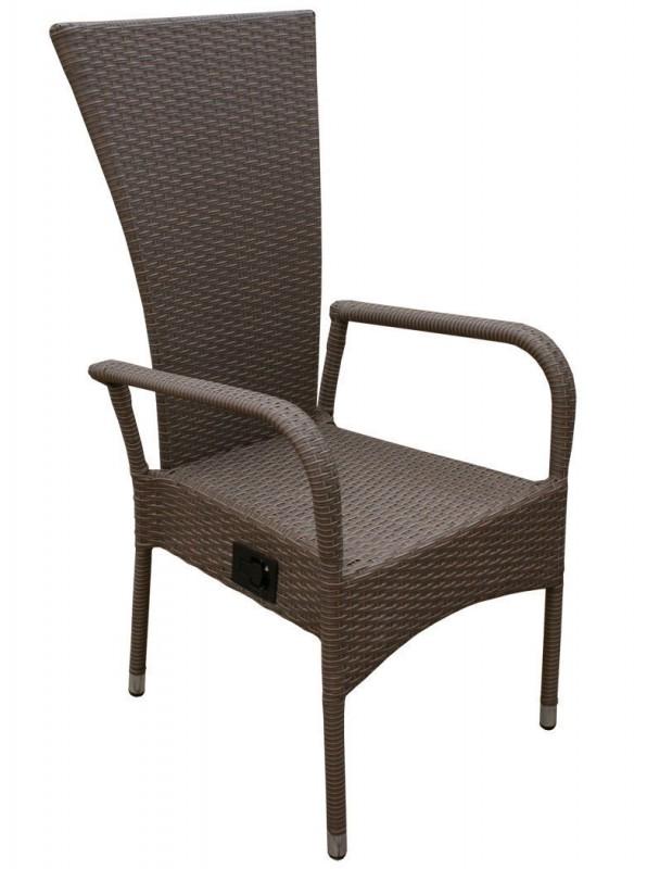 polyrattan hochlehner ben braun 106122 st hle sessel garten kmh shop. Black Bedroom Furniture Sets. Home Design Ideas