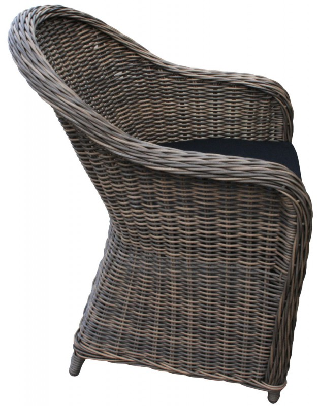 Polyrattan Sessel *Kubo* Natur/Braun (#106127) | Stühle/Sessel