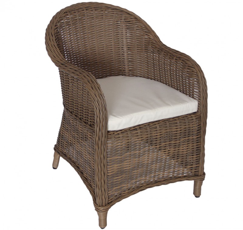 Polyrattan Sessel *KUBO* natur/braun (#106127) | Stühle/Sessel ...