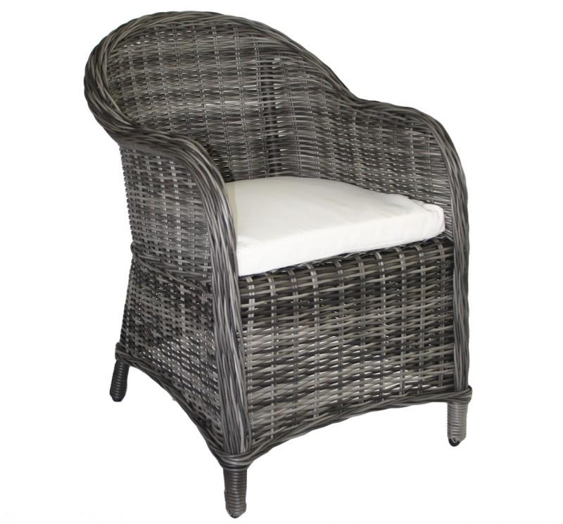 Polyrattan Sessel *KUBO* grau (#106128) | Stühle/Sessel | Garten ...