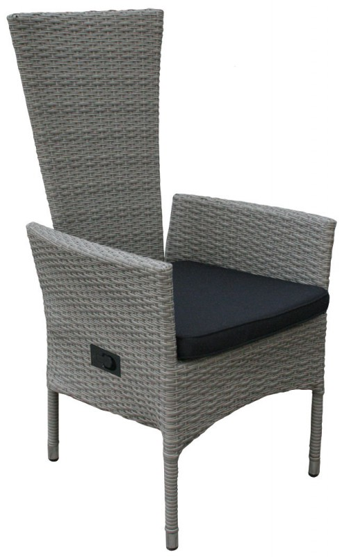polyrattan hochlehner tjorben grau 106142 st hle sessel garten kmh shop. Black Bedroom Furniture Sets. Home Design Ideas