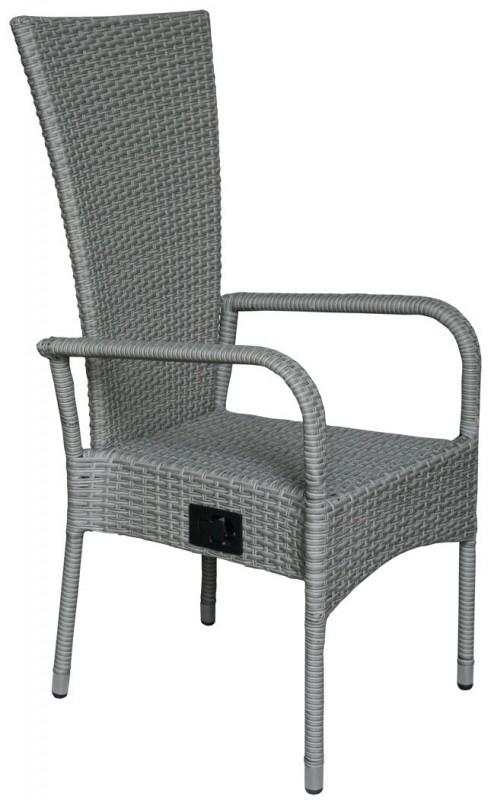 polyrattan hochlehner ben grau 106144 st hle sessel garten kmh shop. Black Bedroom Furniture Sets. Home Design Ideas