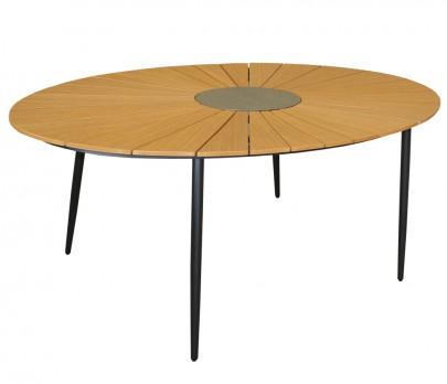 Tisch *Wolfsburg* oval (teak color) (#106162)