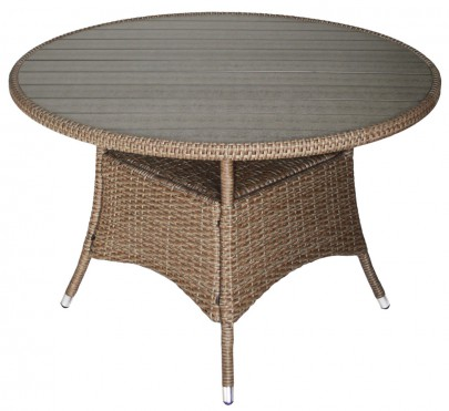 Tisch *BOBO* 110 cm grau/natur (#106163)