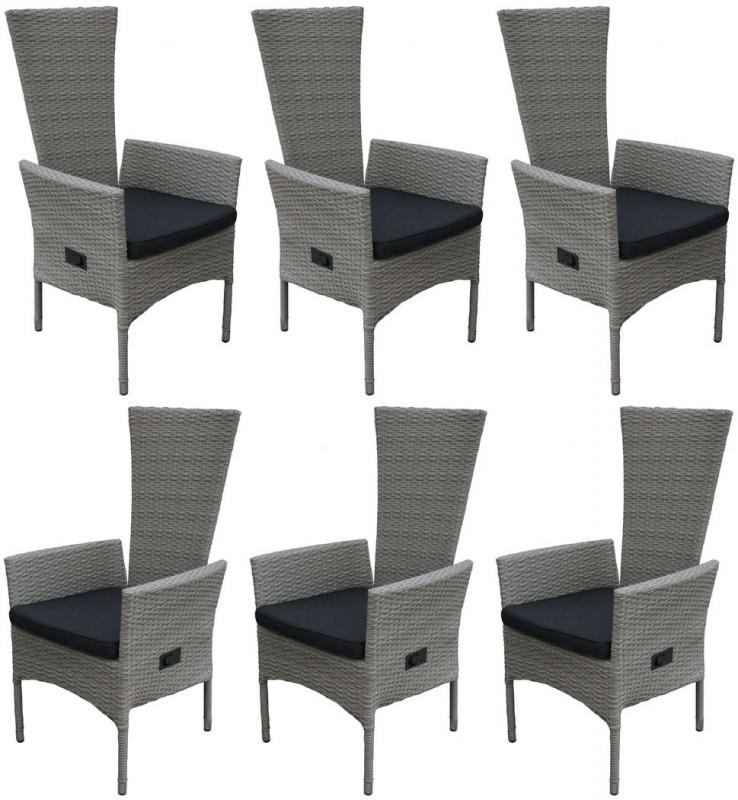 6er set hochlehner tjorben grau 106256 sitzgruppen sets garten kmh shop. Black Bedroom Furniture Sets. Home Design Ideas
