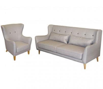 Sitzgruppe *Juist* (ein Sessel und ein 3-sitzer Sofa) (#20461901)