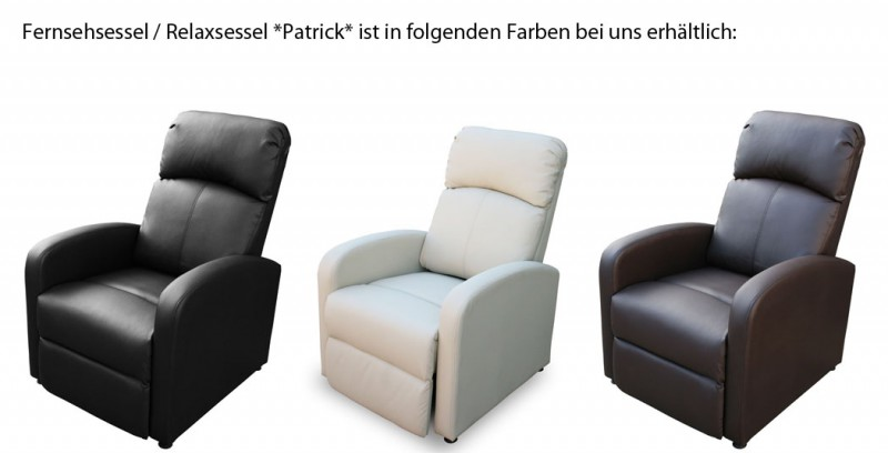 tv relaxsessel patrick schwarz 204630 sitzm bel wohnen kmh shop. Black Bedroom Furniture Sets. Home Design Ideas