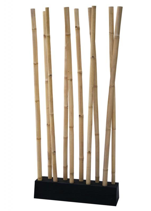 lio bambus raumteiler natur schwarz 400037 deko aufbewahrung deko kmh shop. Black Bedroom Furniture Sets. Home Design Ideas
