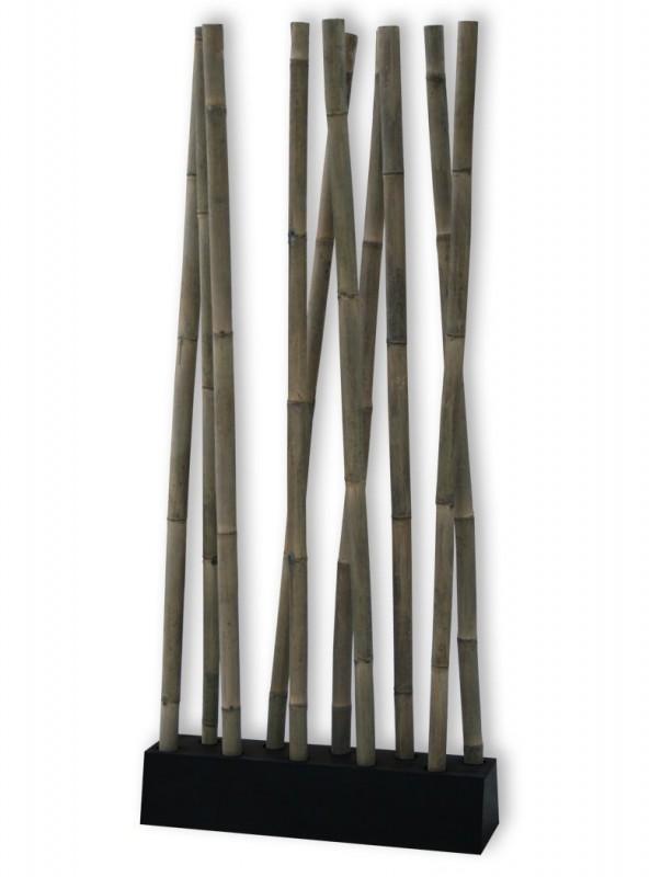 Lio bambus raumteiler grau schwarz 400038 deko aufbewahrung deko kmh shop - Trennwand bambus ...