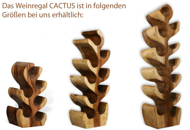 Lio Weinregal Cactus Medium 400118 Regale Wohnen Kmh Shop