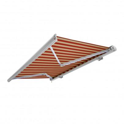 Kassettenmarkise (4,5m x 3m) (beige-orange / weiß) (#700092)