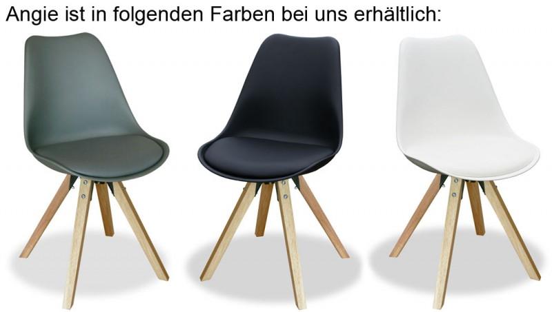 2er set designstuhl angie weiss 800055 st hle b nke for Designstuhl angie