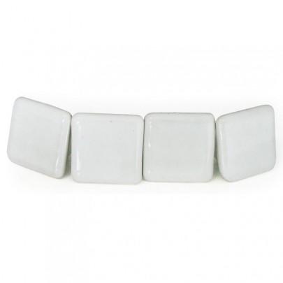 (25) 4er Set Knauf Keramik eckig weiss *B-Ware* (#820025)